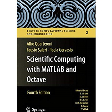 Scientific Computing with MATLAB and Octave by Alfio Quarteroni