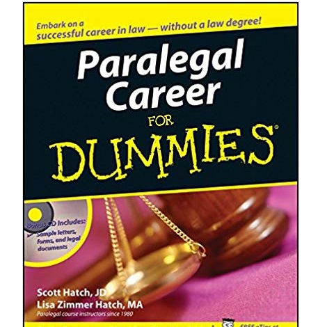 Paralegal Career For Dummies by Scott A. Hatch