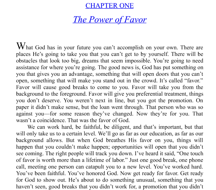 The Power of Favor Study Guide by Joel Osteen ePub