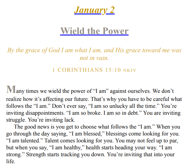 The Power of I Am by Joel Osteen PDF