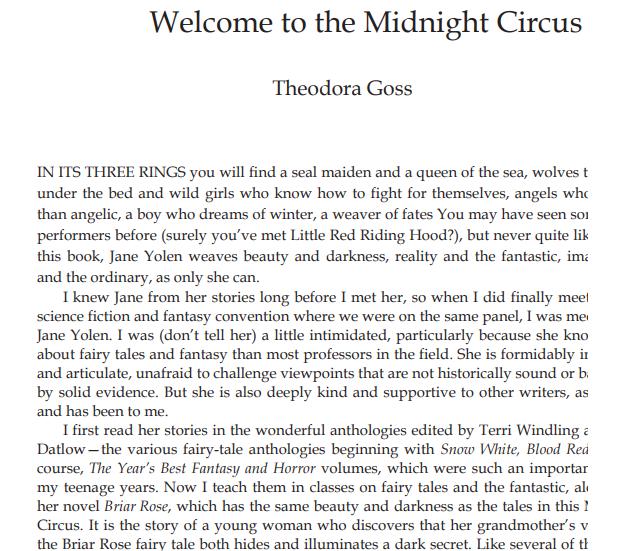 The Midnight Circus by Jane Yolen ePub