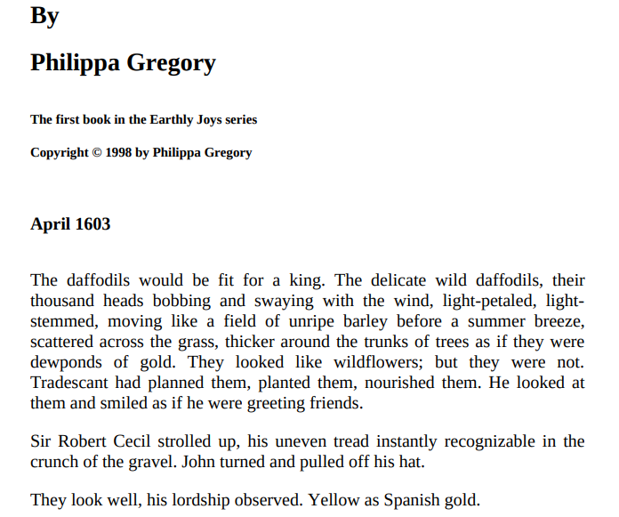 Earthly Joys by Philippa Gregory ePub