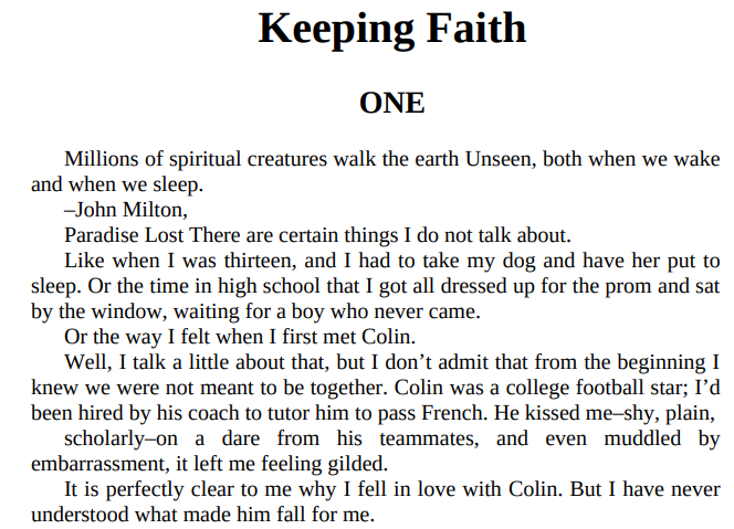 Keeping Faith by Jodi Picoult PDF