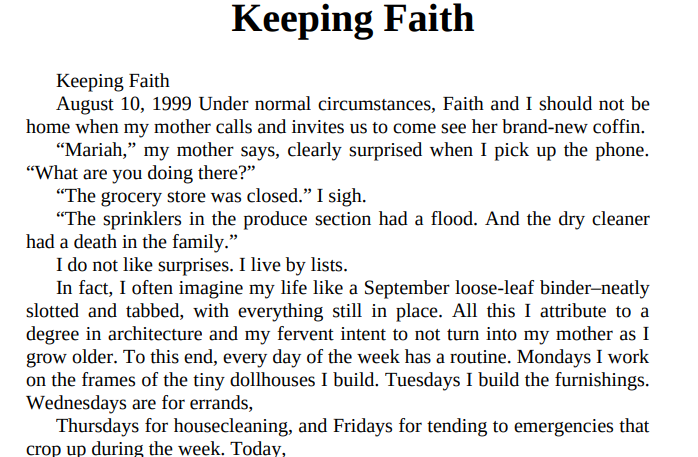 Keeping Faith by Jodi Picoult ePub