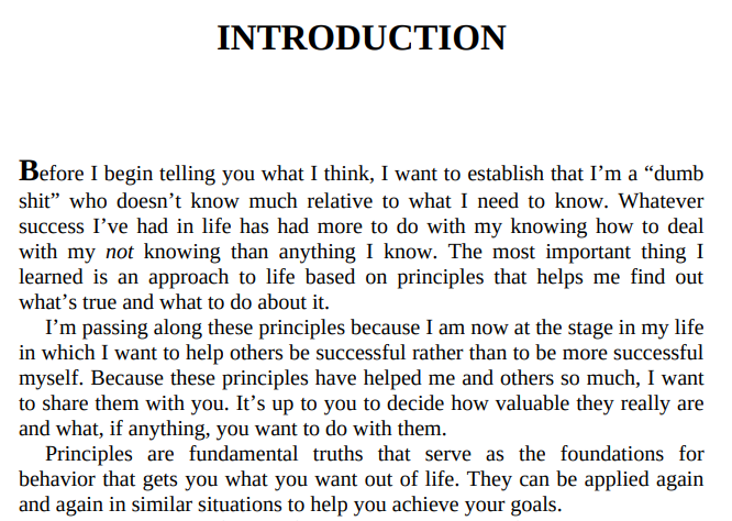 Principle by Ray Dalio
